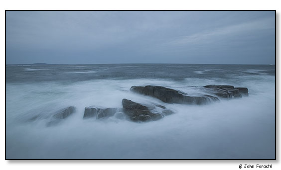 Heavy surf at dusk. Acadia National Park, Maine. October 2005.