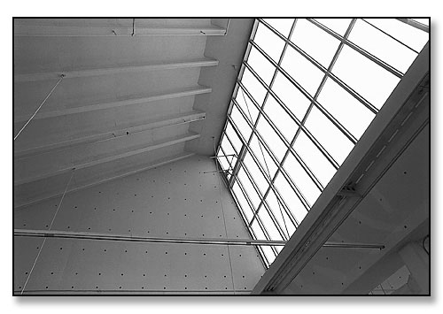 Detail of skylight and ceiling. <br>Studio, List Art Building, Brown University, Providence, Rhode Island. April 1991.